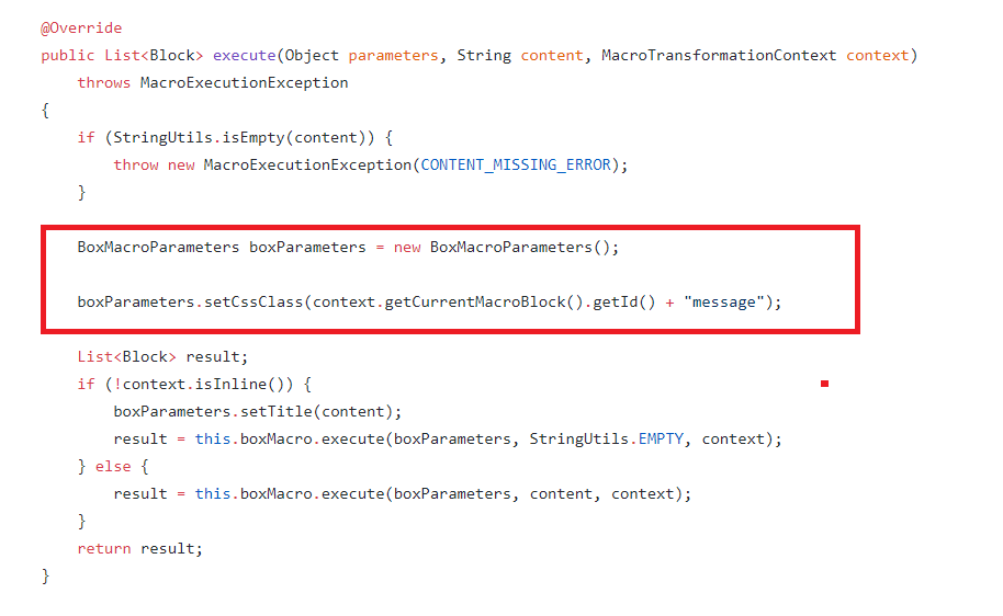 Update parameter in Info Macro - Help / Discuss - XWiki Forum